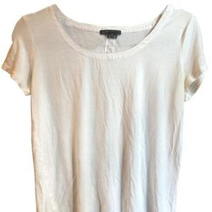White tee with back detail